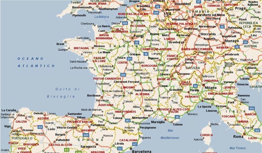 Cartina Fisico Politica Della Francia.Mappe Angelo Prof Orabona