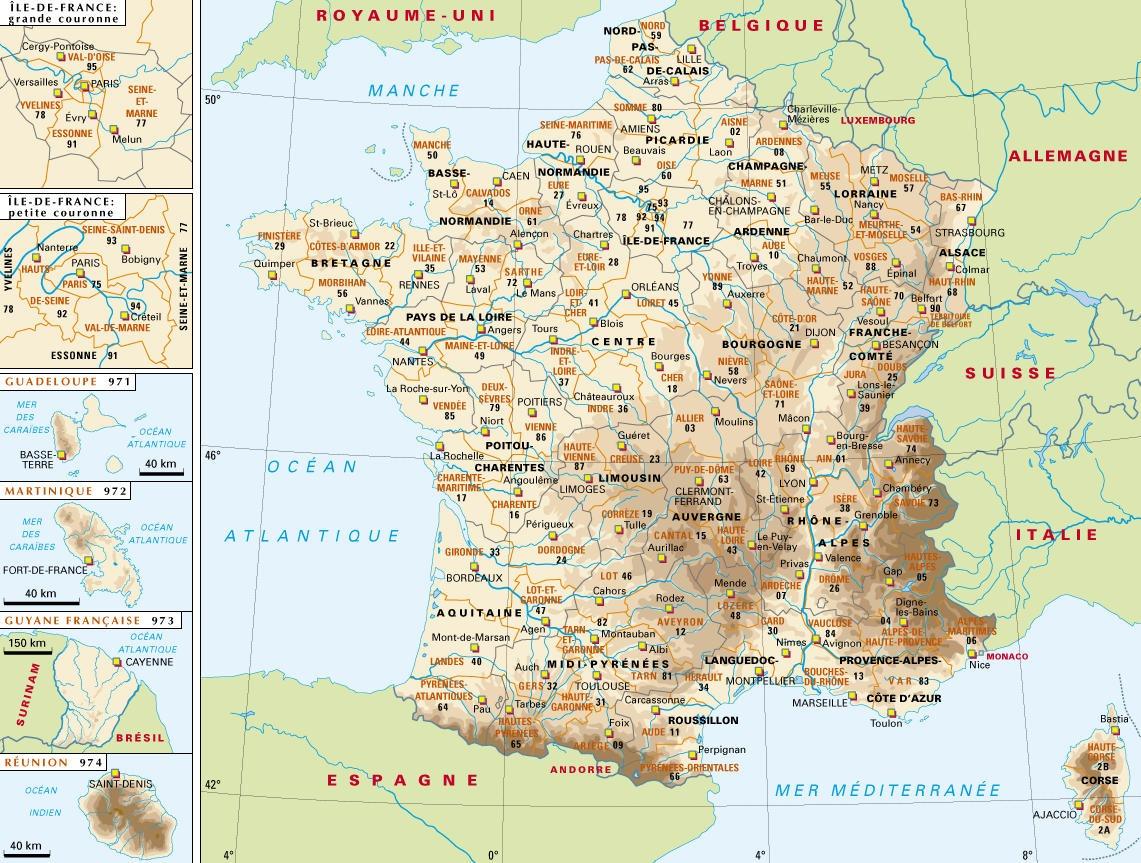 Cartina Francia Fisica In Francese.Mappe Angelo Prof Orabona
